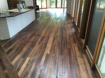sanding timber floor