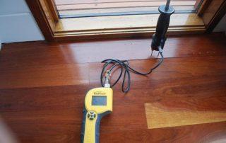 moisture testing timber floor